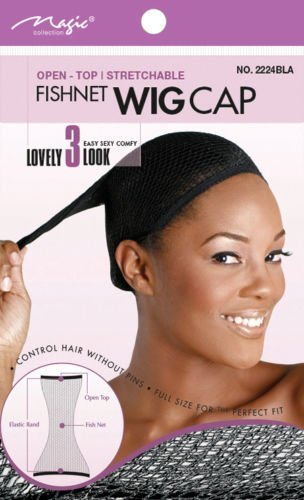 Magic Collection Open Top Fishnet Wig Cap No 2224 by Magic ()
