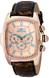 Invicta Men's 12644 Lupah Analog Display Swiss Quartz Brown Watch