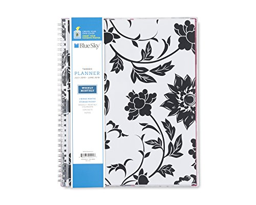 Blue Sky 2018-2019 Academic Year Weekly & Monthly Planner, Flexible Cover, Twin-Wire Binding, 8.5