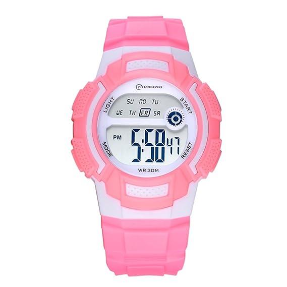 777d32cfd Niño Relojes electrónicos,30m impermeable Luminoso Calendario Mes de la  semana Corriendo Reloj deportivo Junior Multifunción Jalea-E: Amazon.es:  Relojes