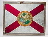 Cheap Framed Florida State Flag Metal Sign, Americana, Rustic Décor