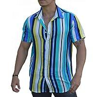 Camisa Listrada Masculina Cores - Viscose