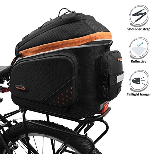 Ibera 2 in 1 PakRak Commuter Bicycle Trunk Bag with for sale  Delivered anywhere in USA