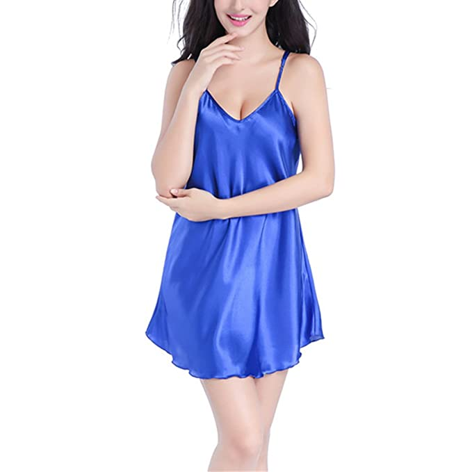 DOTBUY Camisa de Dormir para Mujer, Pijama de Tirantes para Mujer ...