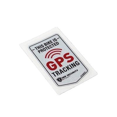 Langersun 2PCS Car Stickers Warning GPS Tracker Alarm Bike Protected Motorbike Bumper 7x4cm (B): Automotive