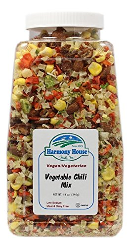 Harmony House Foods Soup Mix, Vegetable Chili, 14 Ounce Quart Size Jar by Harmony House Foods