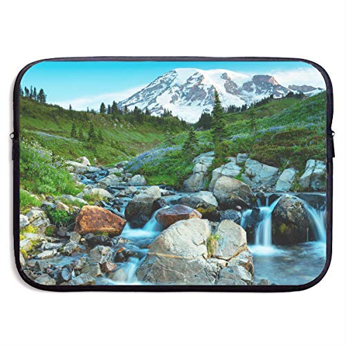 (13-15 Inch Laptop Sleeve USA Mt Rainier National Park Nature Landscape Notebook Computer Pocket Case/Tablet Briefcase Carrying Bag MacBook Bag for)