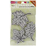 STAMPENDOUS Jumbo Cling Rubber Stamp, Leaves