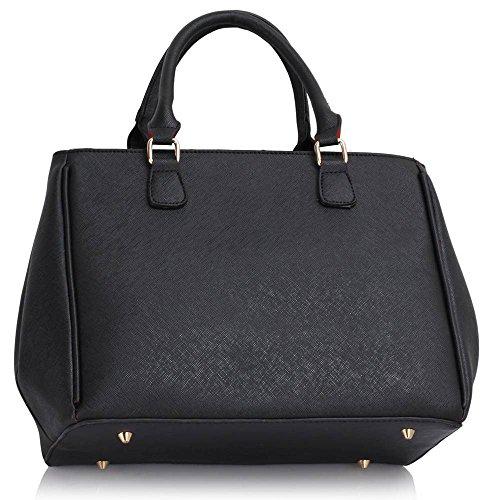 Trend Star Mujer Diseñador imitación piel berühmtheit Noche de estilo elegante para Lino transporte bolso A - Black
