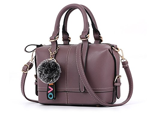 Bags De Bolsos Trend Personalidad Señoras Las Purple Simple Bolsa Bao Brown Pillow Shoulder Diagonal Pack Moda Zipper Hand 7Hqwc5dc