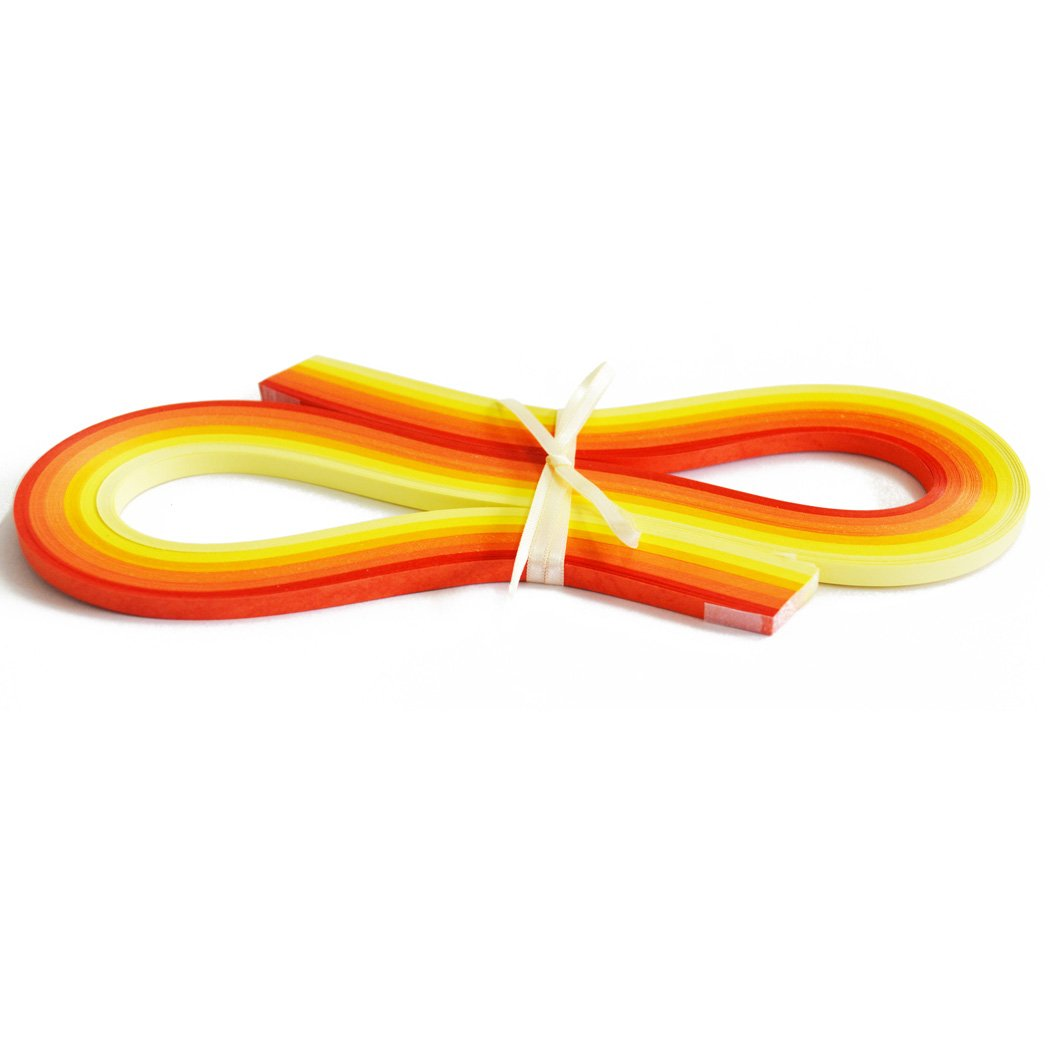 Paper Width 5mm Juya Yellow Shade 6 Colors Paper Quilling 3//5//7//10mm Width 540mm Length 120strips//pack