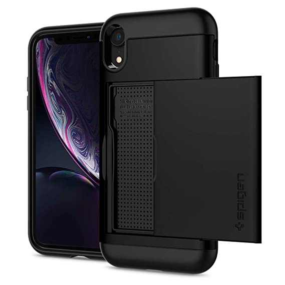 official photos c6646 c8d2e Spigen Slim Armor CS Designed for Apple iPhone XR Case (2018) - Black