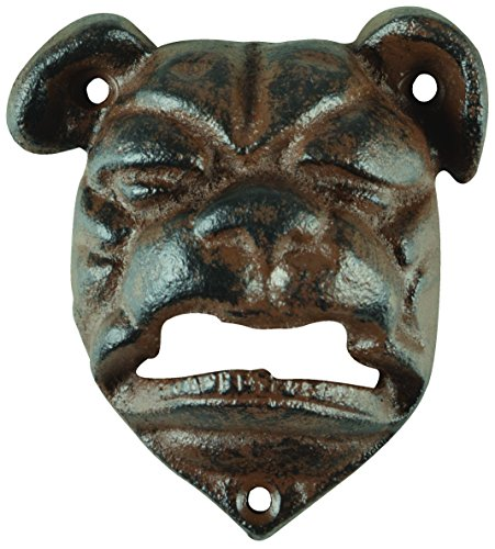 Bulldogs Bottle (Esschert Design TT204 Series Bulldog Bottle Opener, Antique Brown)