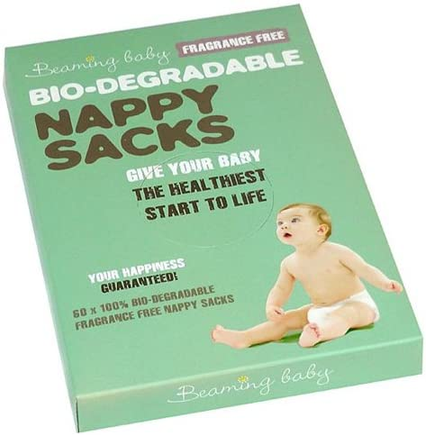 Beaming Baby Nappy Sacks Fragranced Free 60`spieces