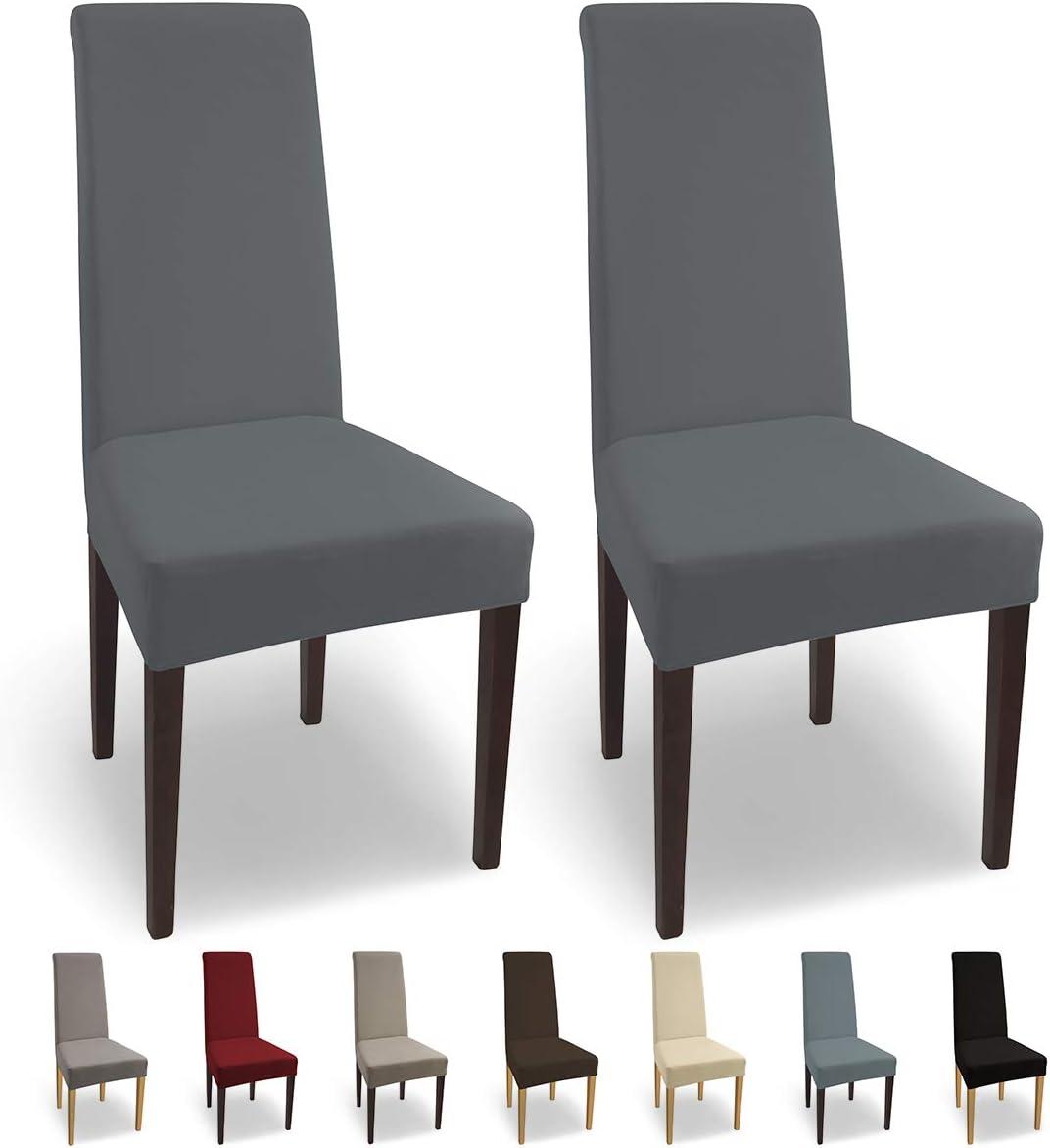 SCHEFFLER-Home Natalie 2 Fundas de sillas, Estirable Cubiertas ...