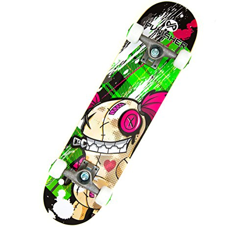 Punisher Skateboards Jinx  Complete 31-Inch Skateboard All