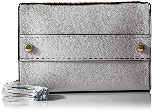 MILLY Astor Tassel Clutch, White