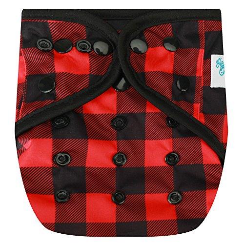 HappyEndingsTM One Size Cloth Diaper Cover AI2 System (Buffalo Plaid)