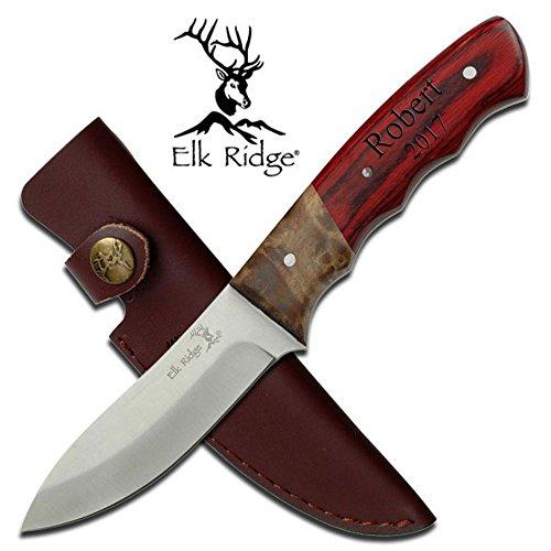 "Free Engraving - Elk Ridge ER-130 FIXED BLADE KNIFE 8.5"" OVERALL"