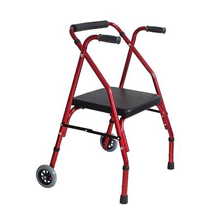 LHNLY-Andadores Andador con Ruedas de Aluminio para Personas ...