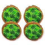 Chomp a'Lomp Cookies, Cannabis Cookies, Sweet Green, Chomp a'Lomp Clear Top Box, 4 Decorated, 8 Plain