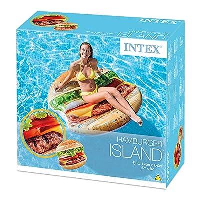 Inflatable Hamburger Island Pool Float: Toys & Games