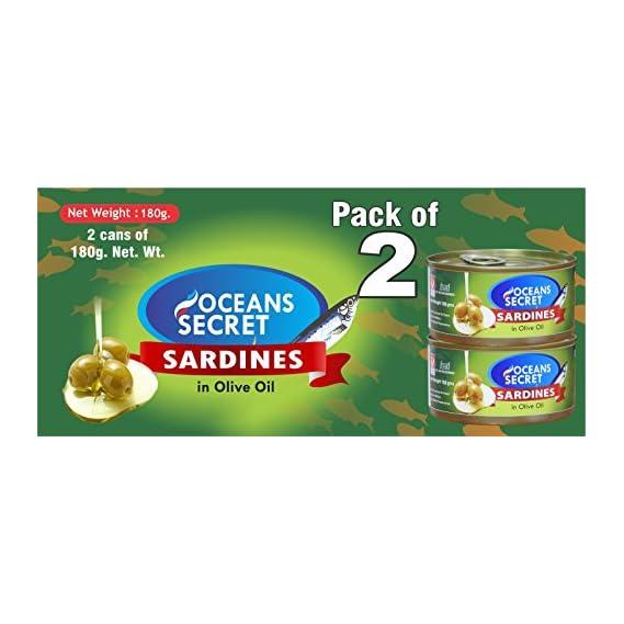 Oceans Secret Sardines in Olive Oil, 180g (Pack of 2)