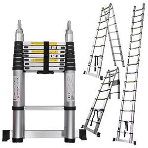 16 5 Ft Portable Aluminum Telescopic Ladder Telescoping A