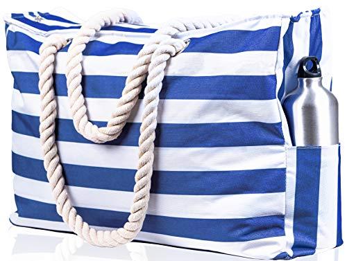 Beach Bag XXL. 100% Waterproof (IP64). L22 xH15 xW6. Top Zip
