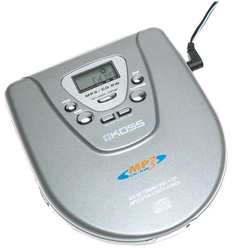 Koss CDP-3100 Personal CD/MP3 Player with Lid Top Digital Controls Koss Mp3
