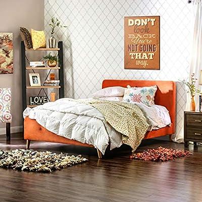 Amazon Com Furniture Of America Celene Mid Century Modern Tufted