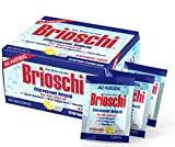 Brioschi Effervescent Antacid Single Serving - Travel Packets Aspirin Free All Natural Fast Relief for Upset Stomach, Acid Indigestion, Heartburn and Bloating, (10 Packets)
