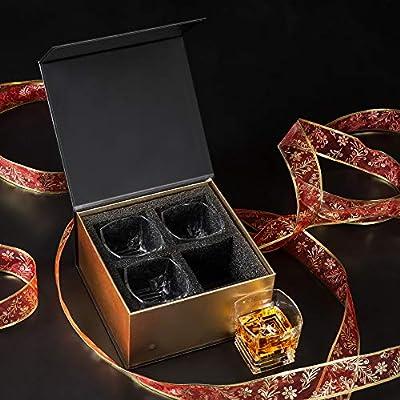 KANARS Pacific Crystal Whiskey Glasses Set