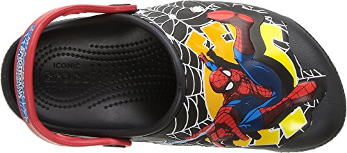 Image of crocs Boys' Crocsfunlab Lights Spiderman Clog, Black, 5 M US Toddler