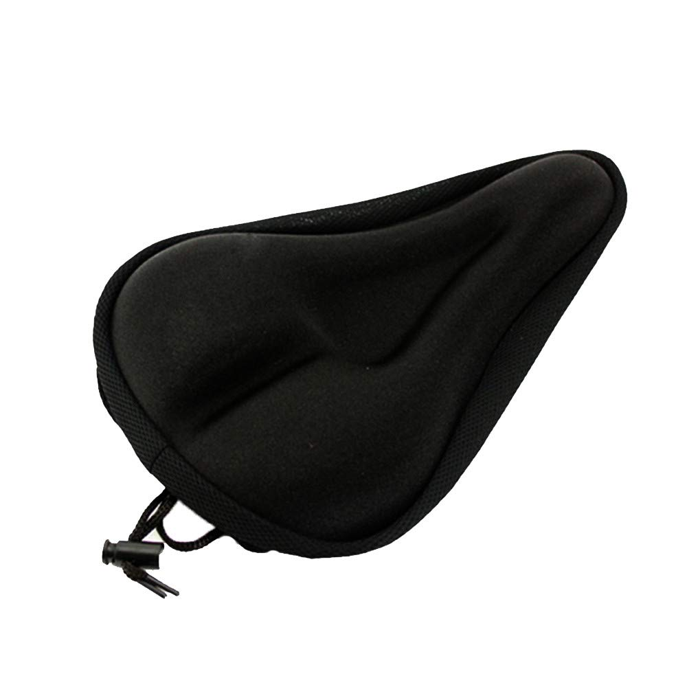 Quaanti Bike Seat Saddle Cover Silicone Gel Thick Soft Bicycle Bike Cycling Soft Saddle Seat Cover Cushion Pad for Mountain Bike (A)