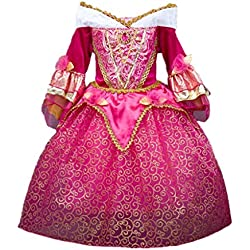 DreamHigh Sleeping Beauty Princess Aurora Girls Costume Dress Size 7-8 Years