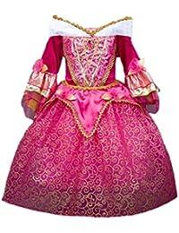 Sleeping Beauty Princess Aurora Girls Costume Dress 3-10 Years