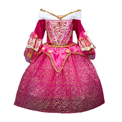 DreamHigh Sleeping Beauty Princess Aurora Girls Costume Dress Size 5-6 (Sleeping Beauty Halloween Costume Child)