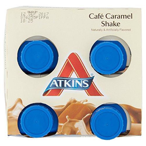 Atkins Ready To Drink Shake, Café Caramel, 11 Ounce, 4 Count (Pack of 2)