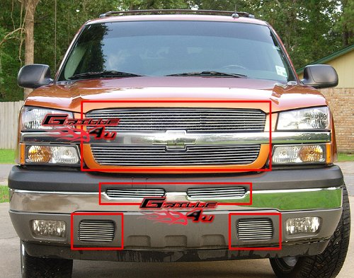 03 Bumper Insert Grille Grill - 8