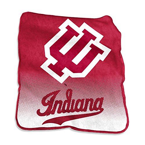 NCAA Indiana Hoosiers Raschel Throw, One Size, Cardinal (Indiana Hoosiers Fleece Throw)