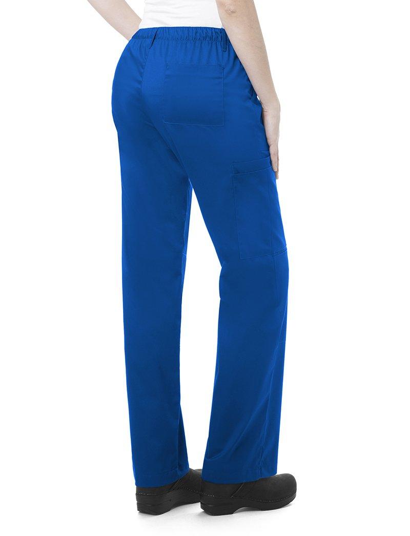 WonderWink Women's Plus Size Wonderwork Straight Leg Cargo Scrub Pant, Pewter, 3X-Large Petite by WonderWink (Image #2)