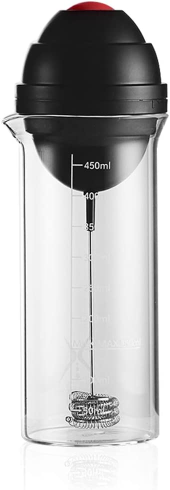 AIMCAE Espumador de Leche electrico con un Vaso de 450ml Foamer One-Touch Start, revuelva los Huevos para Hacer café con Leche, Capuchino: Amazon.es: Hogar