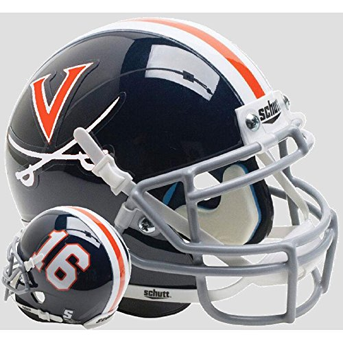Virginia Cavaliers Blue 16 Officially Licensed Full Size XP Replica Football Helmet