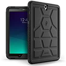 Poetic TurtleSkin Galaxy Tab S3 9.7 Rugged Case With Heavy Duty Protection Silicone and Sound-Amplification feature for Samsung Galaxy Tab S3 9.7 (2017) Black