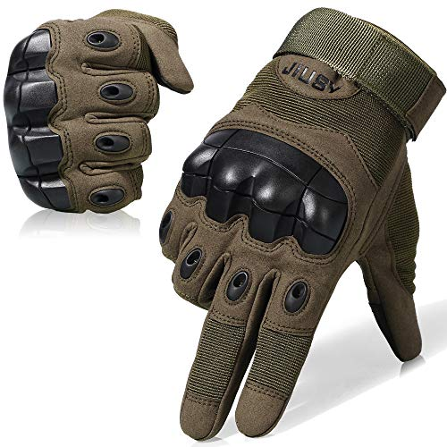 WTACTFUL Touch Screen Military Rubber Hard Knuckle Tactical Gloves Full Finger Airsoft Paintball Outdoor Army Gear Sports Cycling Motorcycle Riding Shooting Hunting Size Large ()