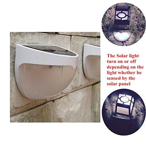 Harryshell(TM)Waterproof Cool-White 6 LED Solar Wall Light, Semi ...