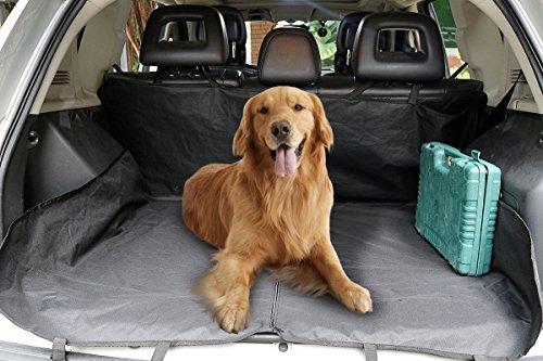 Suv Cab Covers (NEVERLAND Dog Seat Cover Pet Car Suv Van Back Rear Bench Waterproof Universal Hammock Black)