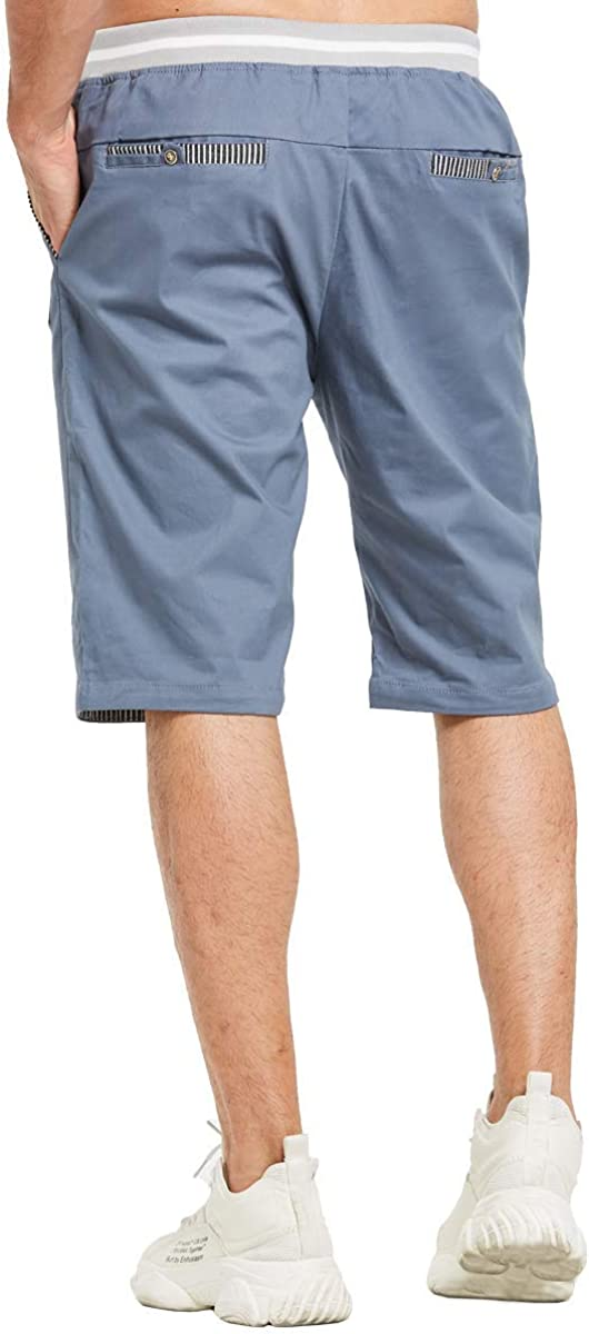 Pantalones cortos gris hecho a mano con bolsillos delanteros