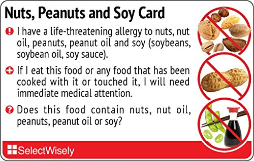 Nuts, Peanuts and Soy Allergy Translation Card - Translated in Khmer